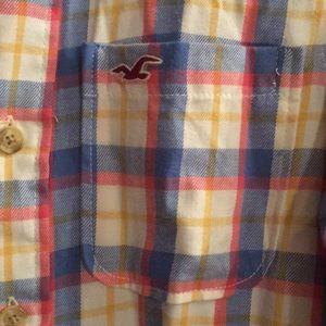 Hollister button down Small plaid shirt.